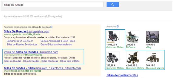 Ficha de productos Google