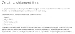 shipment feed