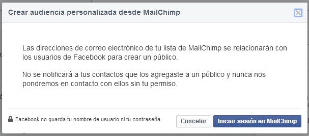 mailchimp custom audiences