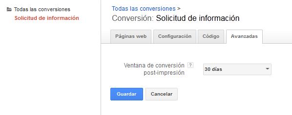 conversiones post impresión
