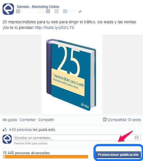 Publicaciones promocionadas Facebook