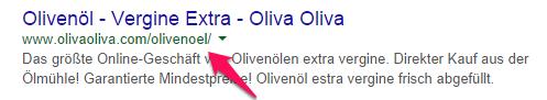 SEO multilingüe ejemplo Oliva