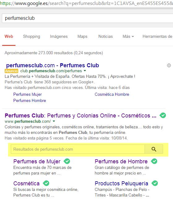 Caja de búsqueda interna Google