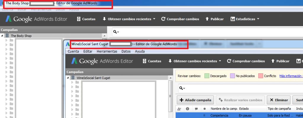 adwords editor-cuentas
